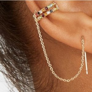 Baublebar Ear Cuff Squish Threader Jewel Earring